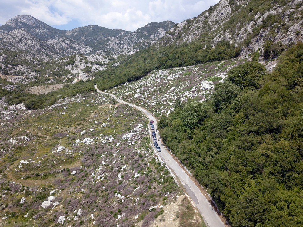 """Ice's road"" down into Kotor bay."