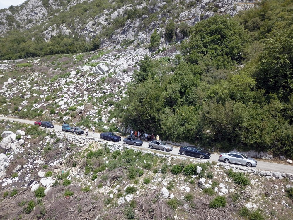 """""""Ice's road"""" down into Kotor bay."""