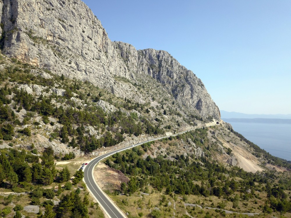 A coastal road in Croatia.