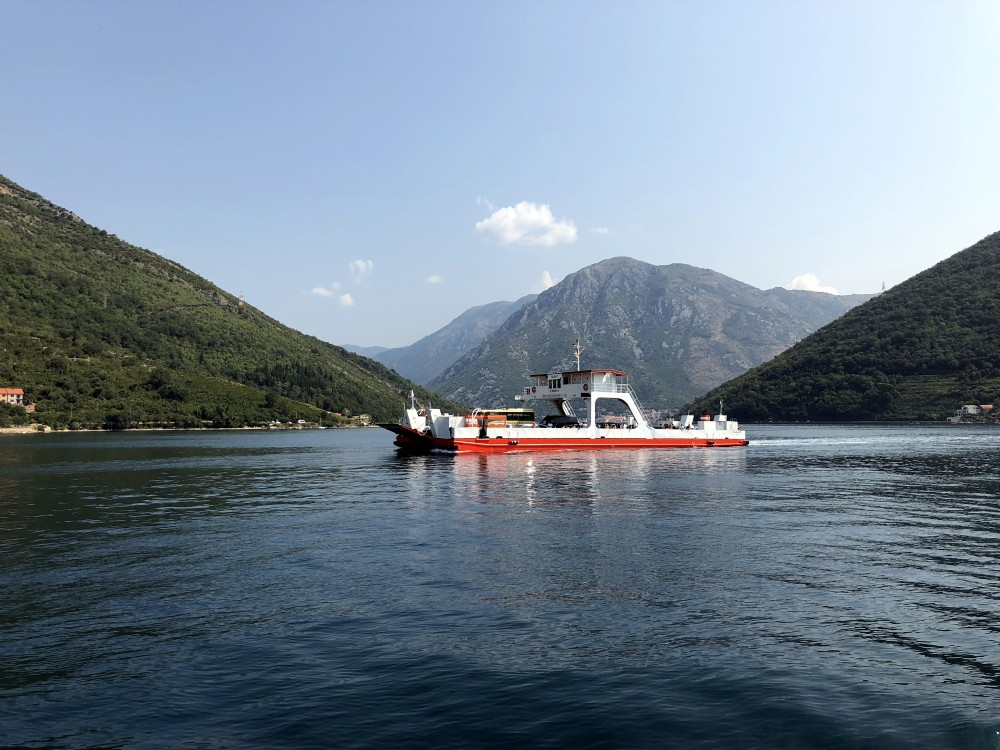 Kotor bay ferry.