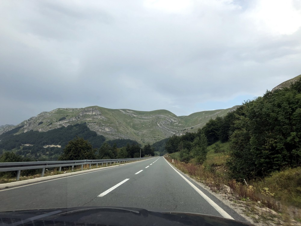 Heading into Montenegro highlands.